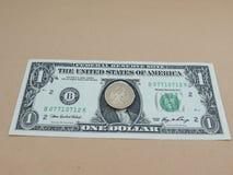 rachunku dolar jeden my Zdjęcie Stock