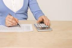 rachunku dzień wynagrodzenia praca Zdjęcie Stock