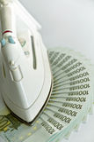 rachunku euro sto żelaznych udziałów Fotografia Stock