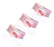 rachunku karty kredyt Obrazy Stock