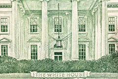 rachunku zamknięty dolara domu macro w górę my biały Obrazy Royalty Free