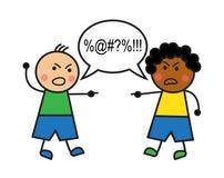 Racial conflict vector illustration
