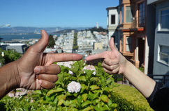 Racial Diversity Over The San Francisco Bay.  Stock Photography