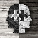 Racial Ethnic Social Issue. And equality concept or cultural justice symbol as a black and white crumpled paper shaped as a human head on old rustic wood vector illustration