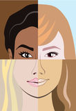 Racial race vector Diversity Stock Photography