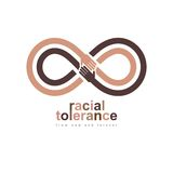 Racial Tolerance conceptual symbol, Martin Luther King Day, Zero royalty free illustration