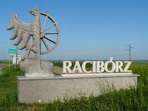 RACIBORZ, SILESIA, limites administrativos do Pol?nia- da cidade de Raciborz fotos de stock