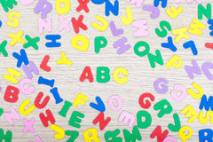 Racimo de la letra con ABC Fotografía de archivo libre de regalías