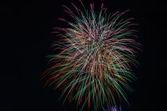 Racimo de los fuegos artificiales Imagen de archivo