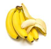 Racimo de plátanos maduros Imagen de archivo libre de regalías