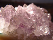 Cristales rosados/púrpuras Imágenes de archivo libres de regalías