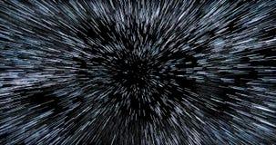 Racimo denso directo Hyperspace del starfield ilustración del vector