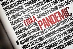 Racimo generado Digital de la palabra del ebola Imagen de archivo libre de regalías
