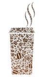 Taza del Portable del grano de café Foto de archivo libre de regalías