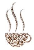 Taza del grano de café Imágenes de archivo libres de regalías