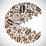 Cara del grano de café Imagen de archivo