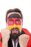 Racine allemande de fan pour l'équipe nationale, d'isolement sur le blanc Image stock