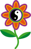 Racines de yang de yin de fleur photographie stock libre de droits
