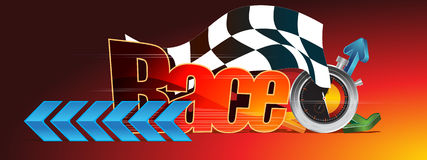 Racing. Beautiful illustration of racing elements Royalty Free Stock Photography