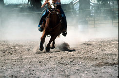 Racing. Horse running with rider in racing event royalty free stock photo