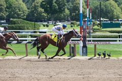 Racing action from the Queen of American Race Trac Stock Photo