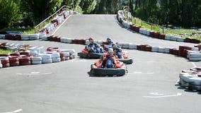 karting  aka racing attraction in Kiev, Ukraine, stock video footage