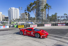 Racing:  Apr 11 TUDOR United SportsCar Championship of Long Beac. Long Beach, CA - Apr 11, 2014:  Risi Competizione Ferrari races through the turns at the TUDOR Stock Photos