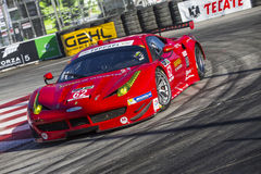Racing:  Apr 11 TUDOR United SportsCar Championship of Long Beac. Long Beach, CA - Apr 11, 2014:  Risi Competizione Ferrari races through the turns at the TUDOR Stock Photography