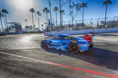 Racing:  Apr 11 TUDOR United SportsCar Championship of Long Beac. Long Beach, CA - Apr 11, 2014:  The Spirit of Daytona Corvette DP car goes on track for a Royalty Free Stock Photos