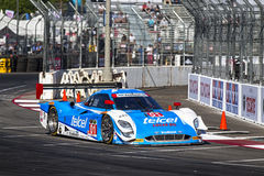 Racing:  Apr 11 TUDOR United SportsCar Championship of Long Beac. Long Beach, CA - Apr 11, 2014:  The Telcel Chip Ganassi Racing car practices through the turns Stock Photography
