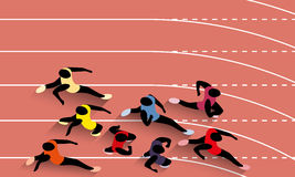 Racing Athletes Stock Image