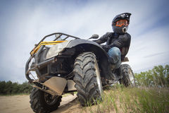 Racing ATV is sand. Stock Image