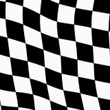 Racing background with checkered flag abstract illustration Stock Photography