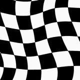 Racing background with checkered flag abstract illustration Stock Images