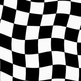 Racing background with checkered flag abstract illustration Stock Photo