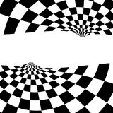 Racing background with checkered flag abstract illustration.  Stock Photography