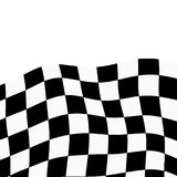 Racing background with checkered flag abstract illustration.  Royalty Free Stock Photo