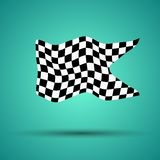 Racing background with checkered flag  illustration. EPS10.  Royalty Free Stock Photography