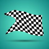 Racing background with checkered flag  illustration. EPS10.  Royalty Free Stock Photo