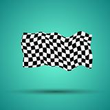 Racing background with checkered flag  illustration. EPS10.  Stock Photo