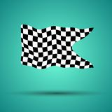 Racing background with checkered flag  illustration. EPS10.  Stock Photography