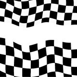 Racing background with checkered flag  illustration. EPS10.  Royalty Free Stock Photos