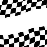 Racing background with checkered flag  illustration. EPS10.  Royalty Free Stock Images