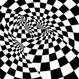 Racing background with checkered flag  illustration. EPS10.  Royalty Free Stock Image
