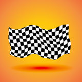 Racing background with checkered flag vector illustration.  Stock Photo