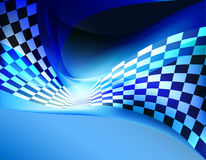 Racing background checkered flag wawing Royalty Free Stock Photos