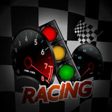 Racing background with many objects. Vector Royalty Free Stock Photo