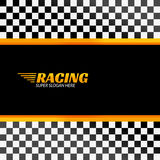 Racing background with race flag, vector sport design Royalty Free Stock Image