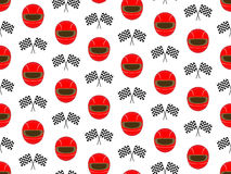 Racing Background Seamless Pattern Royalty Free Stock Photos