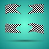 Racing background set collection of 4checkered flags  illustration. EPS10. Racing background set collection of 4 checkered flags  illustration. EPS10 Stock Images